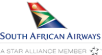 The logo of South African Airways. Homeric Tours' flight airline partners.