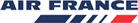 The logo of Air France airlines. Homeric Tours' flight airline partners.