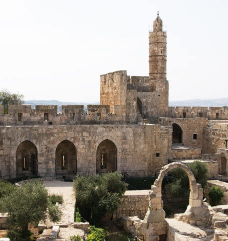 Ruins of a temple in Jerusalem. Israel holidays and vacations package.
