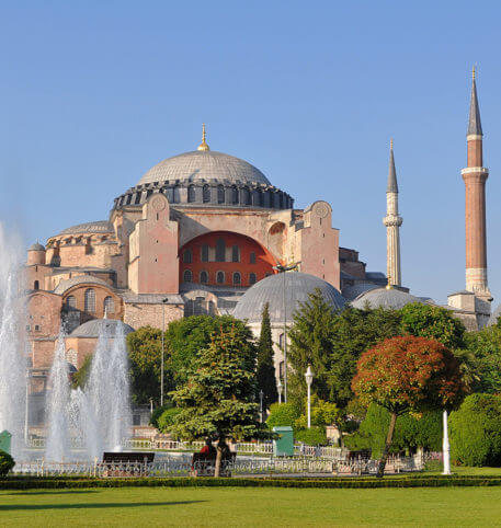 View of the Hagia Sophia one of the most important monuments of humankind.