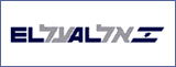 The logo of El Al airlines. Homeric Tours' flight airline partners.