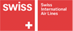 The logo of Swiss International Airlines. Homeric Tours' flight airline partners.