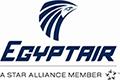 The logo of Egyptair airlines. Homeric Tours' flight airline partners.