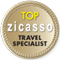 The logo of Top Zicasso travel specialist. Travel with Homeric tours.