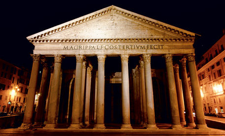 The Pantheon in Rome, one of the most famous sightseeing places in Italy.