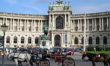 The exterior of an amazing building in Vienna. Eastern European Highlights tour holidays.